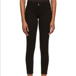 Frame Le Skinny De Jeanne black crop jeans 28